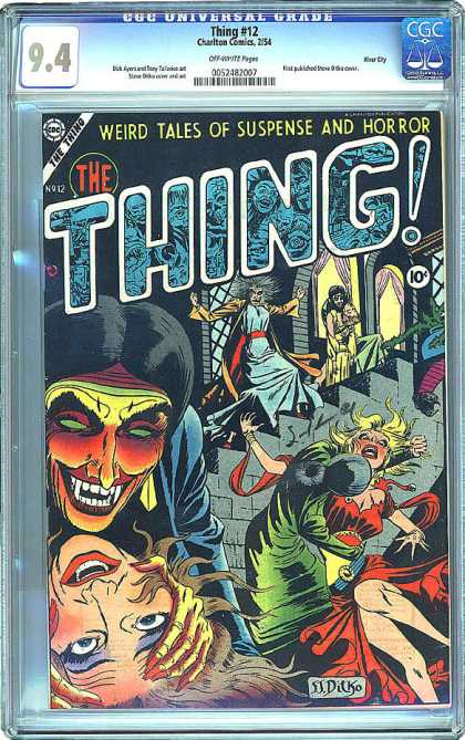 CGC Graded Comics - Thing #12 (CGC) - 94 - The Thing - 10c - No12 - Weird Tales Of Suspense And Horror