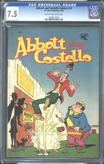 CGC Graded Comics - Abbott and Costello Comics #14 (CGC) - Abbot And Costello - 75 - St John Publications 952 - Atom Bomb Testing Ground - Danger Keep Out