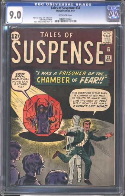 CGC Graded Comics - Tales of Suspense #33 (CGC) - Tales Of Suspense - September - 12 Cents - Speech Bubble - Comics Code Authority