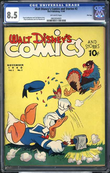 CGC Graded Comics - Walt Disney's Comics and Stories #2 (CGC) - Donald Duck Go Crazy - Another Book Of Madness - The Story Of The Craziest Duck - Mental State Of Donald Duck - Donald Duck Doing Crazy Things
