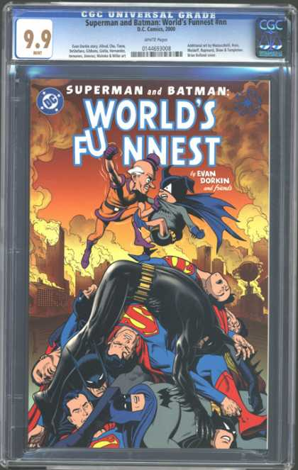 CGC Graded Comics - Superman and Batman: World's Funniest #nn (CGC) - Batman - Heroes - Superboy - Superman - Smoke Clouds