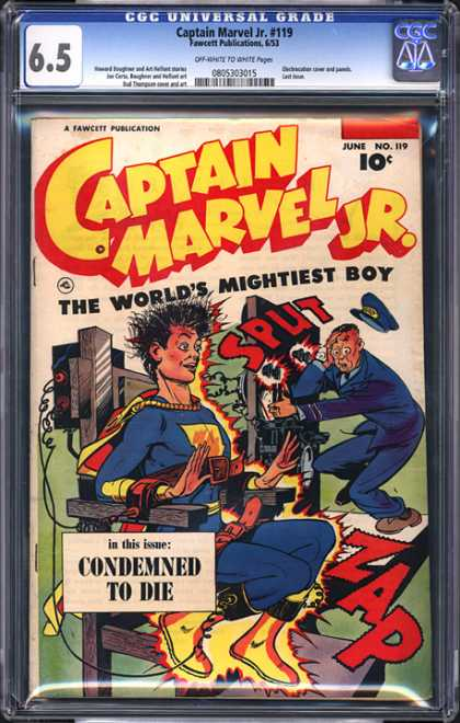 CGC Graded Comics - Captain Marvel Jr. #119 (CGC)