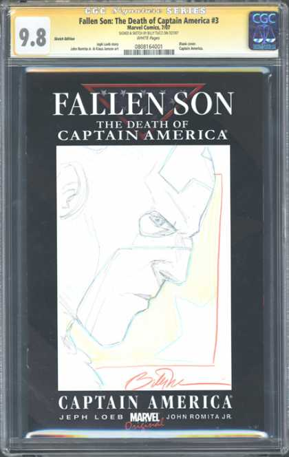 CGC Graded Comics - Fallen Son: The Death of Captain America #3 (CGC) - Captain America - Jeph Loeb - John Romita Jr - Fallen Son - Marvel Comics