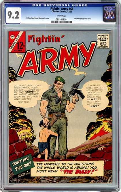 CGC Graded Comics - Fightin' Army #66 (CGC) - Fightin Army - Approved By The Comics Code - Soldier - Gun - The Bully