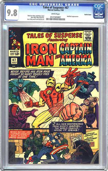 CGC Graded Comics - Tales of Suspense #67 (CGC) - Marvel Comics - Tales To Suspense - Iron Man - Captain America - Approved By The Comics Code Authority
