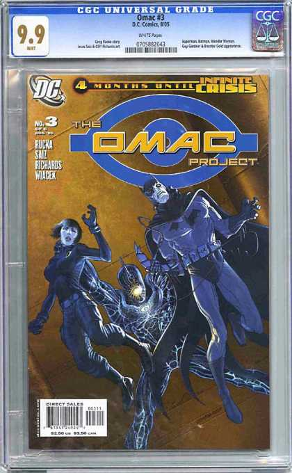 CGC Graded Comics - Omac Project #3 (CGC) - Batman - Spiderman - Woman - Fire - Cape