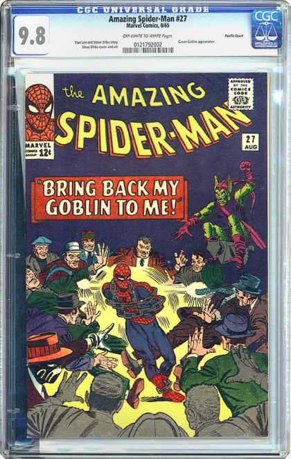 CGC Graded Comics - Amazing Spider-Man #27 (CGC) - Certified Commic - Sealed - Collectors Edition - Hob Goblin - Villians