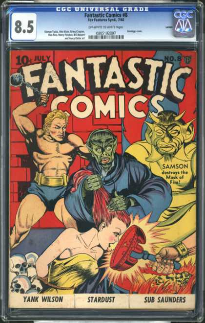 CGC Graded Comics - Fantastic Comics #8 (CGC)