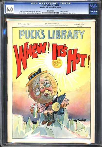 CGC Graded Comics - Puck's Library #134 (CGC) - Pucks Library - Whew Its Hot - Globe - Iceberg - Sun