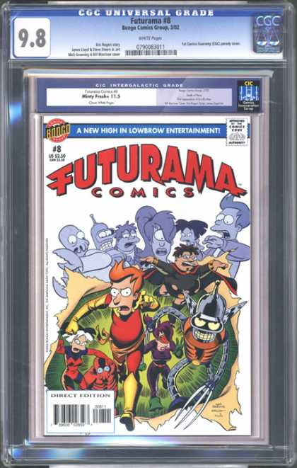 CGC Graded Comics - Futurama #8 (CGC)