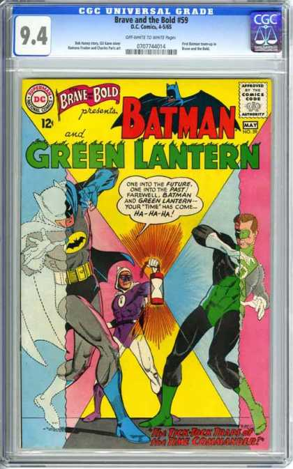 CGC Graded Comics - Brave and the Bold #59 (CGC) - Batman - Green Lantern - Blinding - Jumpsuit - Cape