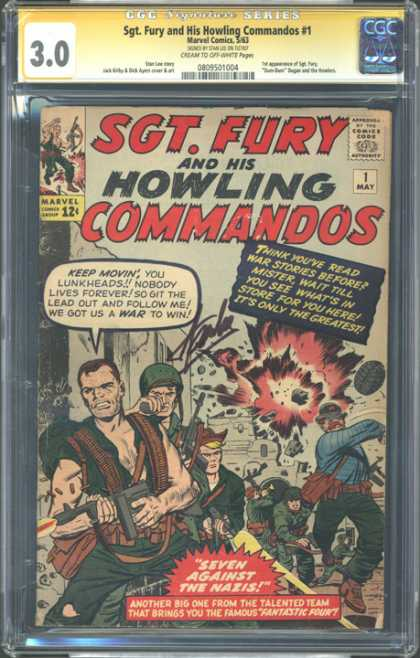 CGC Graded Comics - Sgt. Fury and His Howling Commandos #1 (CGC)