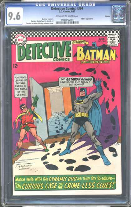 CGC Graded Comics - Detective Comics #364 (CGC) - Detective Comics - Batman - Robin - Foot Prints - The Curious Case Of The Crime-less Clues