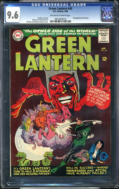 CGC Graded Comics - Green Lantern #42 (CGC) - Dc - Dc Comics - Green Lantern - Zatana The Magician - The Warlock