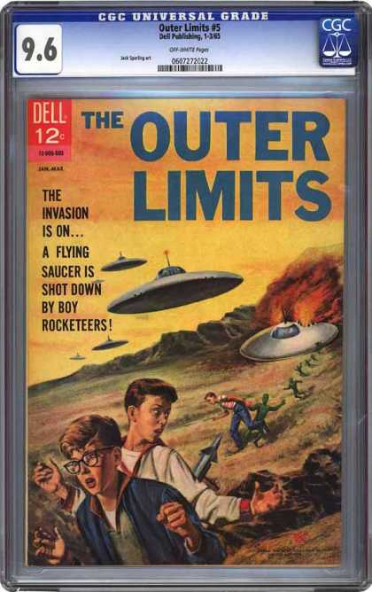 CGC Graded Comics - Outer Limits #5 (CGC) - Ufo - Invasion - Shot Down - Flame - Boy Rocketeers