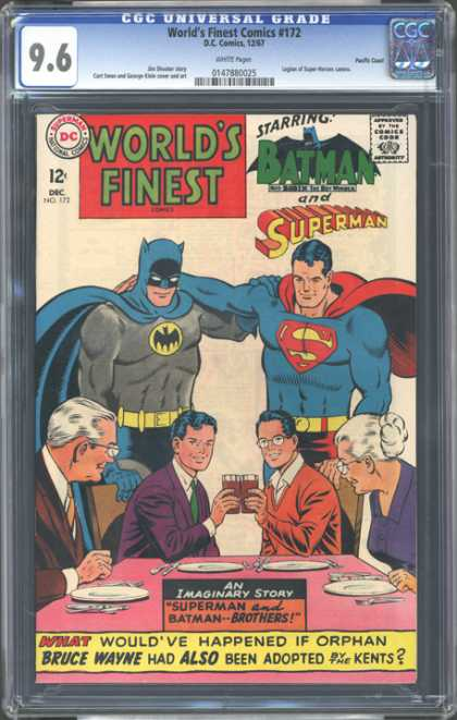 CGC Graded Comics - World's Finest Comics #172 (CGC) - Superman - Batman - Superhero Brothers - Worlds Finest - Superman And Batman