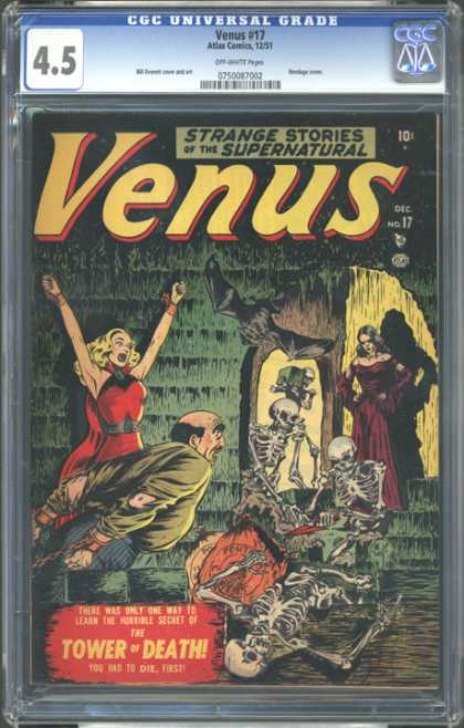 CGC Graded Comics - Venus #17 (CGC) - 45 - Venus - 10c - No17 - Tower Of Death