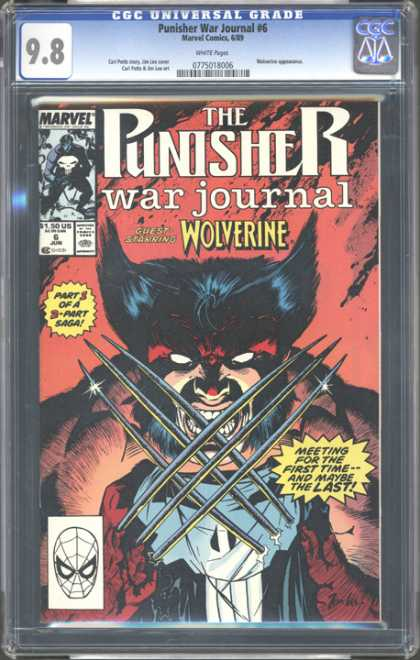 CGC Graded Comics - Punisher War Journal #6 (CGC) - Wolverine - Steel Claws - Mutant - 3 Part Saga - Frank Castle