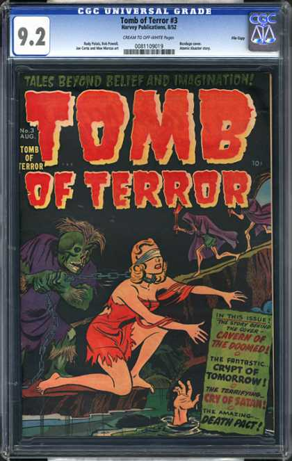 CGC Graded Comics - Tomb of Terror #3 (CGC) - Tomb - Terror - Woman - Monster - Cry Of Satan