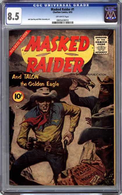 CGC Graded Comics - Masked Raider #1 (CGC) - Gold Eagle - Mask - Raider - Talon - Cowboy
