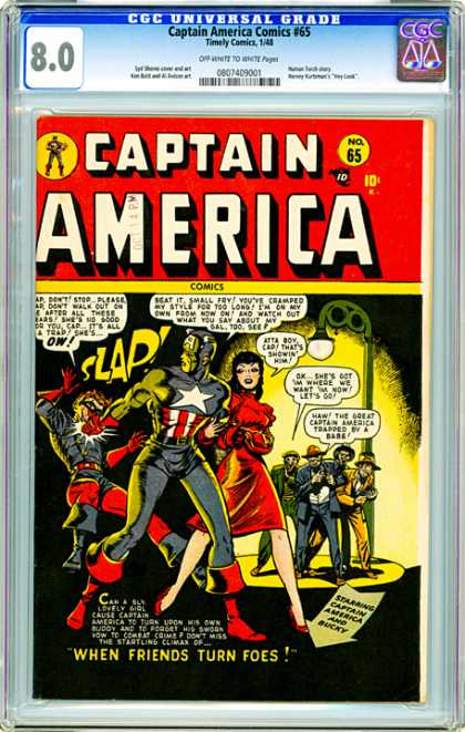 CGC Graded Comics - Captain America Comics #65 (CGC)