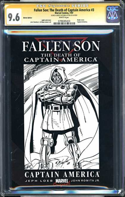 CGC Graded Comics - Fallen Son: The Death of Captain America #3 (CGC) - Asxcasd - Cfasdc - Fcasdcf - Fasdfcasd - Asdcf