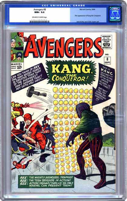CGC Graded Comics - Avengers #8 (CGC) - Marvel - Marvel Comics - Avengers - Kang - The Conqueror
