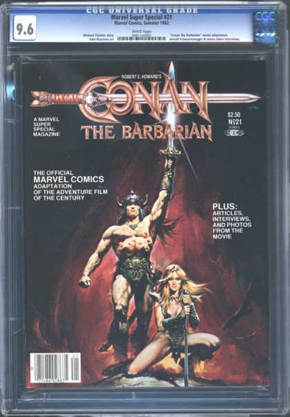 CGC Graded Comics - Marvel Super Special #21 (CGC) - Conan The Barbarian - Marvel - Movie Adaptation - Sword - Loin Cloth