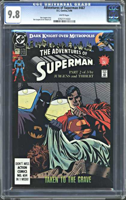 CGC Graded Comics - Adventures of Superman #467 (CGC)