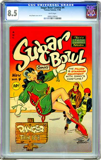 CGC Graded Comics - Sugar Bowl Comics #4 (CGC) - Pillow - Costume - Thin Ice - Danger - Ice Skating