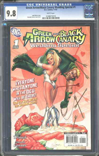 CGC Graded Comics - Green Arrow/Black Canary Wedding Special #1 (CGC) - Green Arrow - Black Canary - Wedding Special - Amanda Conner - Judd Winnick