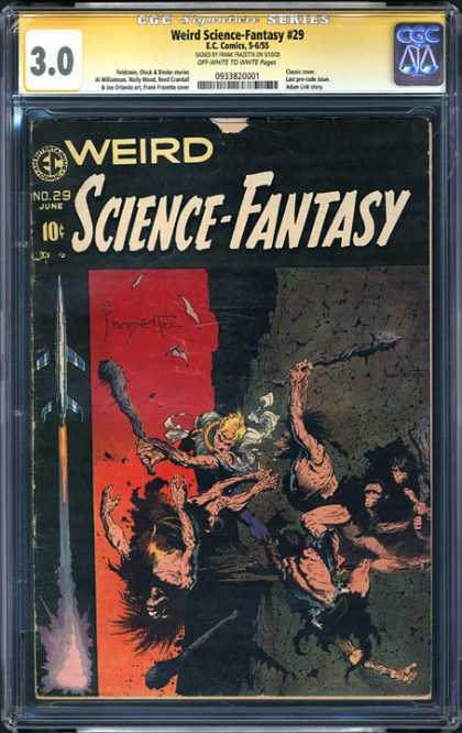 CGC Graded Comics - Weird Science-Fantasy #29 (CGC) - Weird Science-fantasy - Barbarian - Rocket - Rock - Man