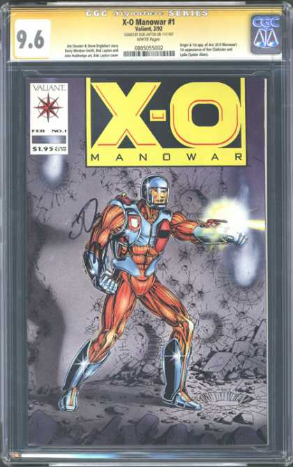CGC Graded Comics - X-O Manowar #1 (CGC)