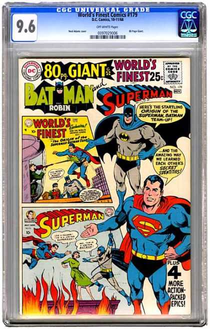 CGC Graded Comics - World's Finest Comics #179 (CGC)
