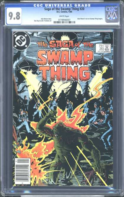 CGC Graded Comics - Saga of the Swamp Thing #20 (CGC)