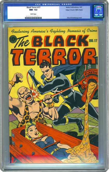 CGC Graded Comics - Black Terror #17 (CGC) - No 17 - Fighting Nemesis Of Crime - Plastic - Cement - Black Terror