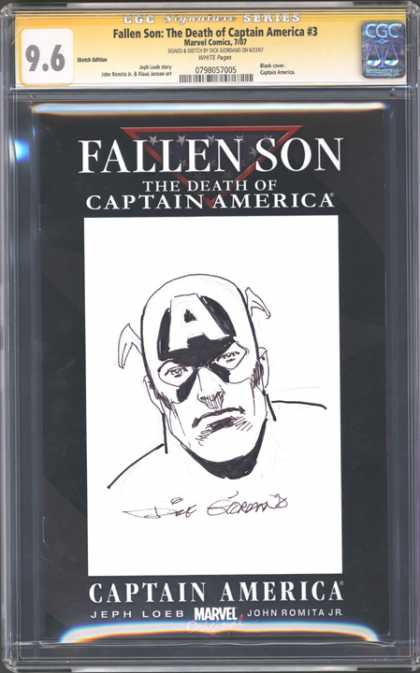 CGC Graded Comics - Fallen Son: The Death of Captain America #3 (CGC) - Fallen Son - The Death Of Captain America - Jeph Loes - John Romita Jr - Marvel