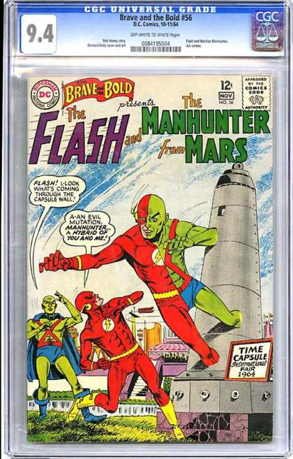 CGC Graded Comics - Brave and the Bold #56 (CGC) - Brave And Bold - Dc - Flash - Time Capsule - Mutation