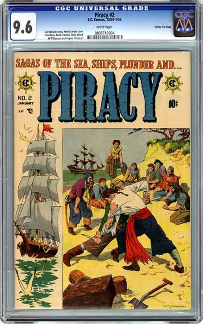 CGC Graded Comics - Piracy #2 (CGC) - Pirates - Ship - Knife - Shovel - Treasure Chest