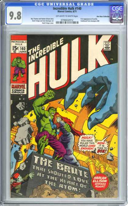 CGC Graded Comics - Incredible Hulk #140 (CGC)