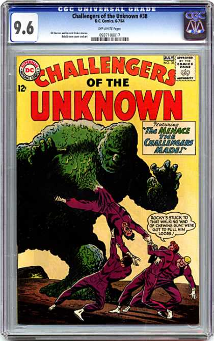 CGC Graded Comics - Challengers of the Unknown #38 (CGC) - Rocky - Gorilla - Challengers - Unkonwn - Menace
