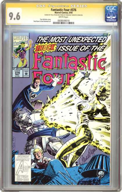 CGC Graded Comics - Fantastic Four #376 (CGC) - Marvel - May - Fantastic Four - Explosion - Shock Issue