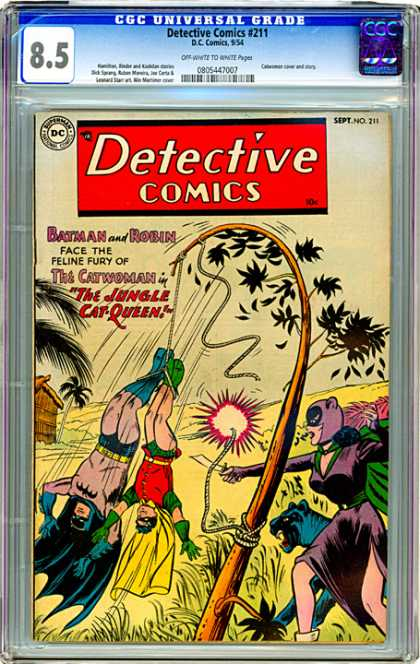 CGC Graded Comics - Detective Comics #211 (CGC) - Rope - Grass - Tree - Wire - Leaves