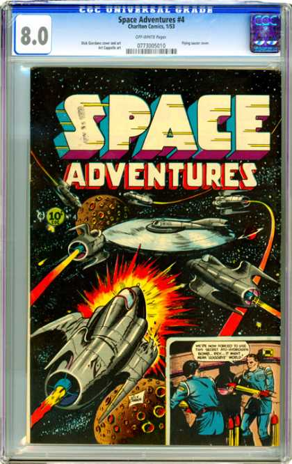 CGC Graded Comics - Space Adventures #4 (CGC) - Space Adventures - Battleships - Laser - Outer Space - War
