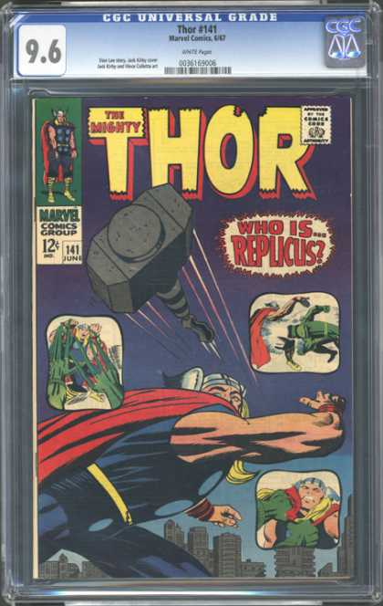 CGC Graded Comics - Thor #141 (CGC) - Thor - Viking - Replicus - Marvel - Hammer