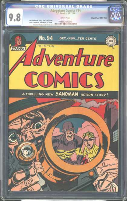 CGC Graded Comics - Adventure Comics #94 (CGC) - Adventure Comics - No 94 - Camera - Mask - A Thrilling New Sandman Action Story