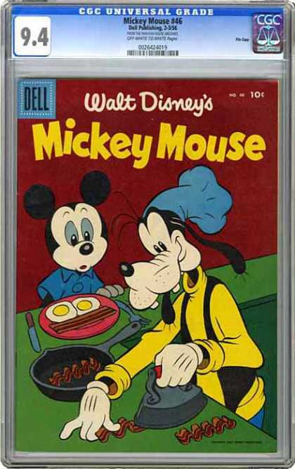 CGC Graded Comics - Mickey Mouse #46 (CGC) - Bacon - Iron - Eggs - Goofy - Skillet