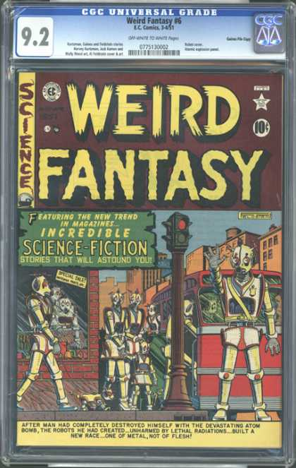 CGC Graded Comics - Weird Fantasy #6 (CGC) - Science-fiction - Weird Fantasy - Incredible - Robots - Atom Bomb