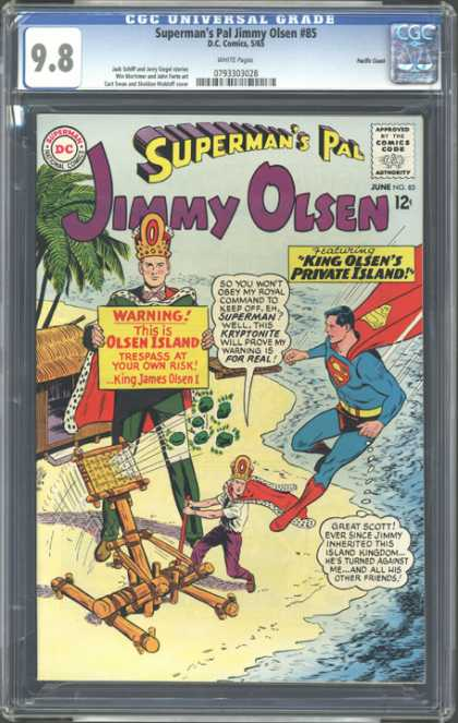 CGC Graded Comics - Superman's Pal Jimmy Olsen #85 (CGC) - Jimmy Olsen - Supermans Pal - King Olsen - Private Island - Cgc