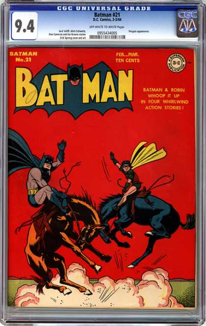 CGC Graded Comics - Batman #21 (CGC) - Super Heros - Whoop It Up - Whirlwind Action Storie - Masked Super Heroes - Super Heroes That Wear Capes